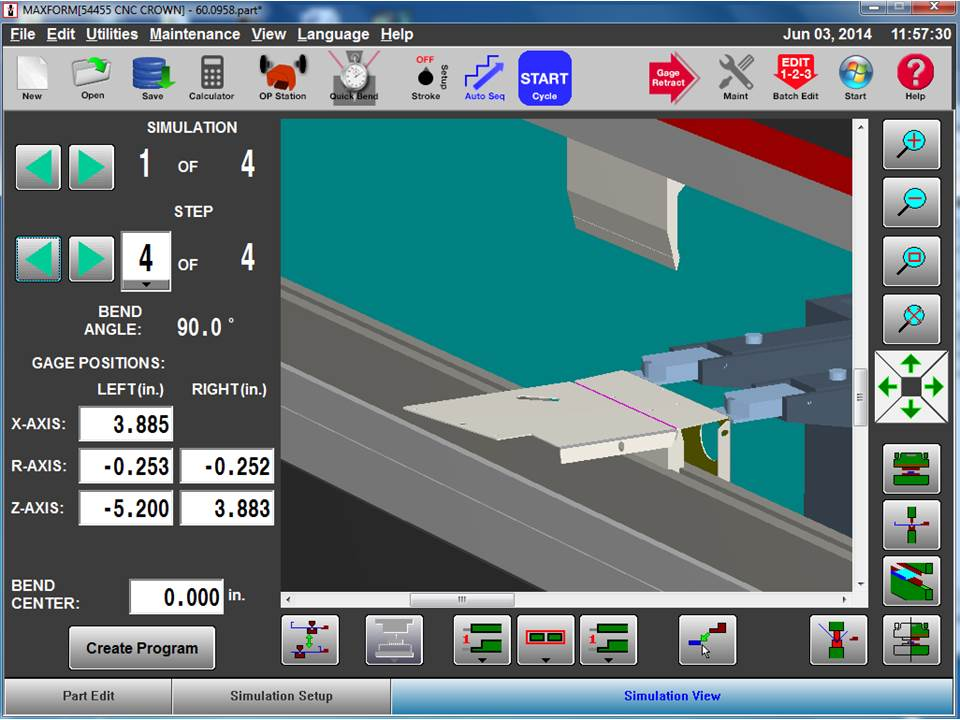 Program Simulation Screen