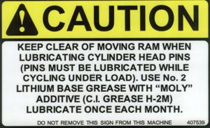 Caution Safety Sticker