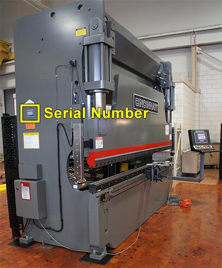 Hydraulic Press Brake Serial Number Location