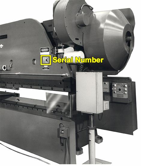 Mechanical Press Brake Serial Number Location