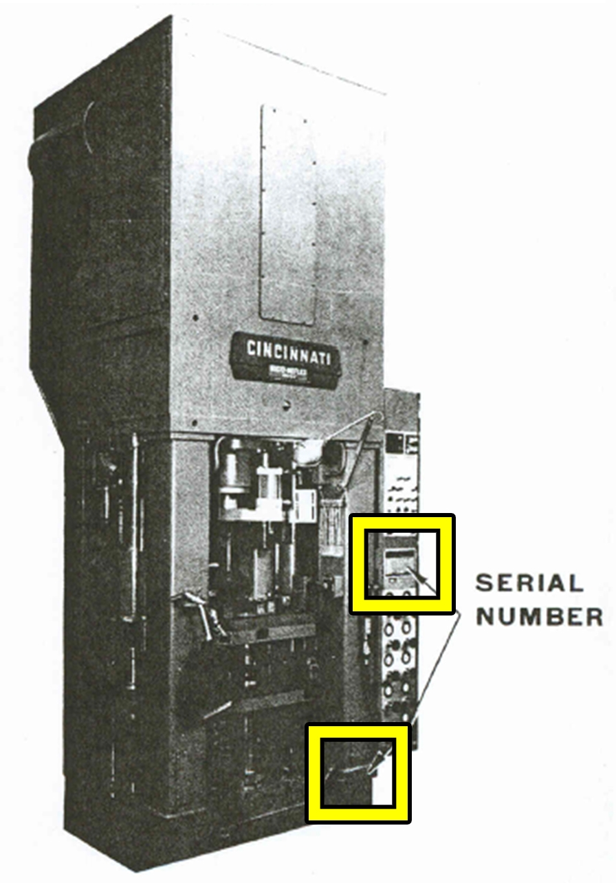 Compacting & Restrike Press Serial Number Location