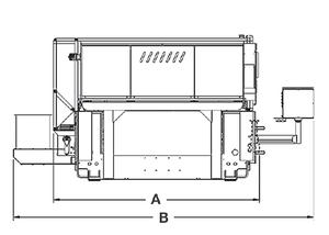 CL-400 Series CO2 Laser Outline (rear)