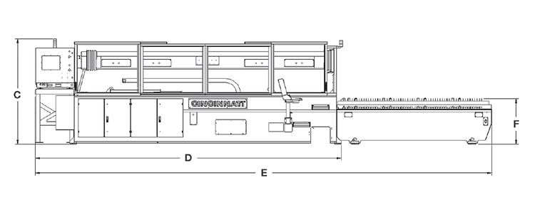 CL-400 Series CO2 Laser System Outline (side)