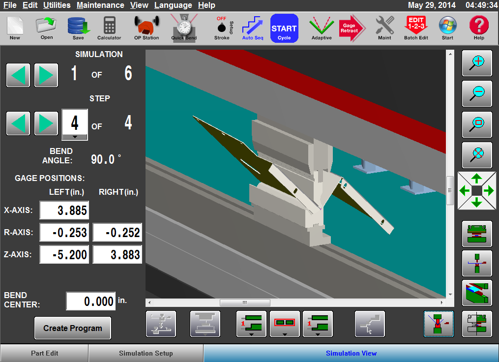 Press Brake Software   Optional Bend Simulation Software (offline)   View Bend Sim Software