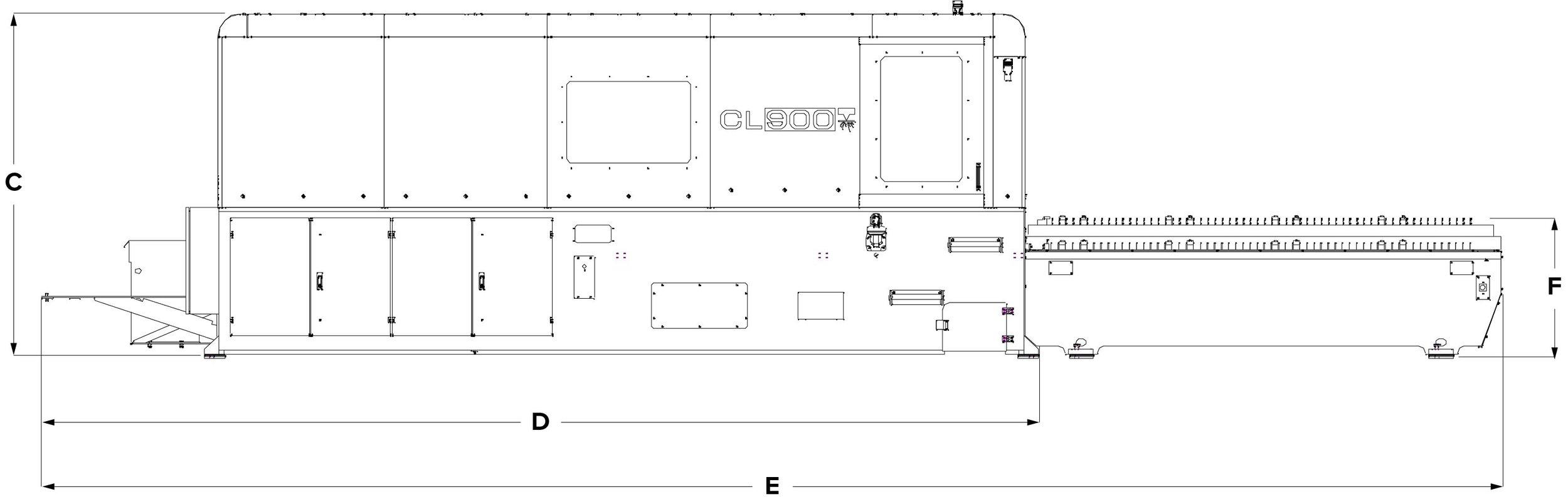 CL900 (side) Foundation print