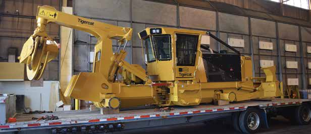 A 620E 4-wheel skidder is ready to be equipped with wheels.