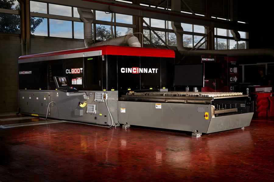 The CL-900 fiber laser series from Cincinnati Inc. can handle a wide range of materials and thicknesses.