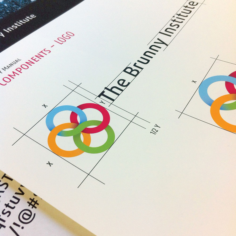 neutral7 graphic design gainesville brunny institute logo identity design branding manual