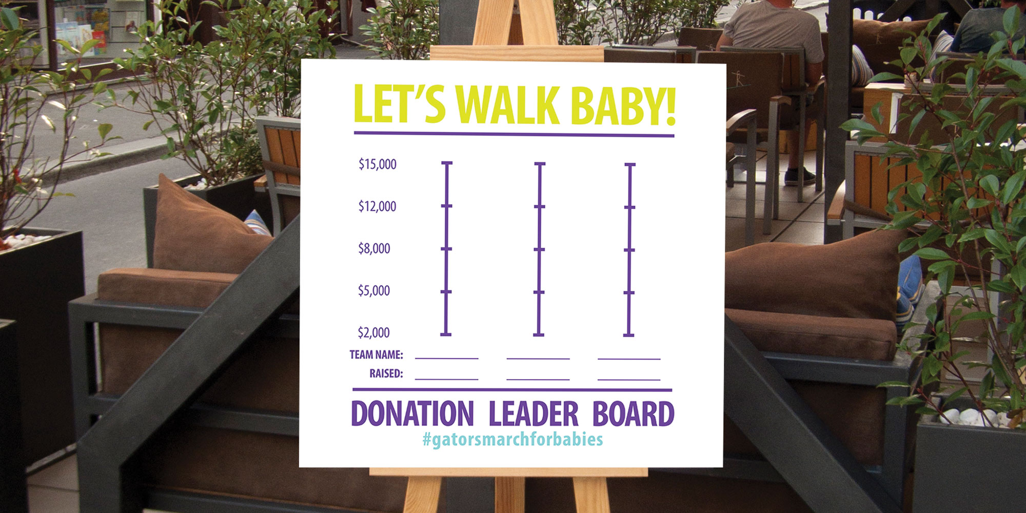 March of Dimes - Let's Walk Baby Campaign - Print