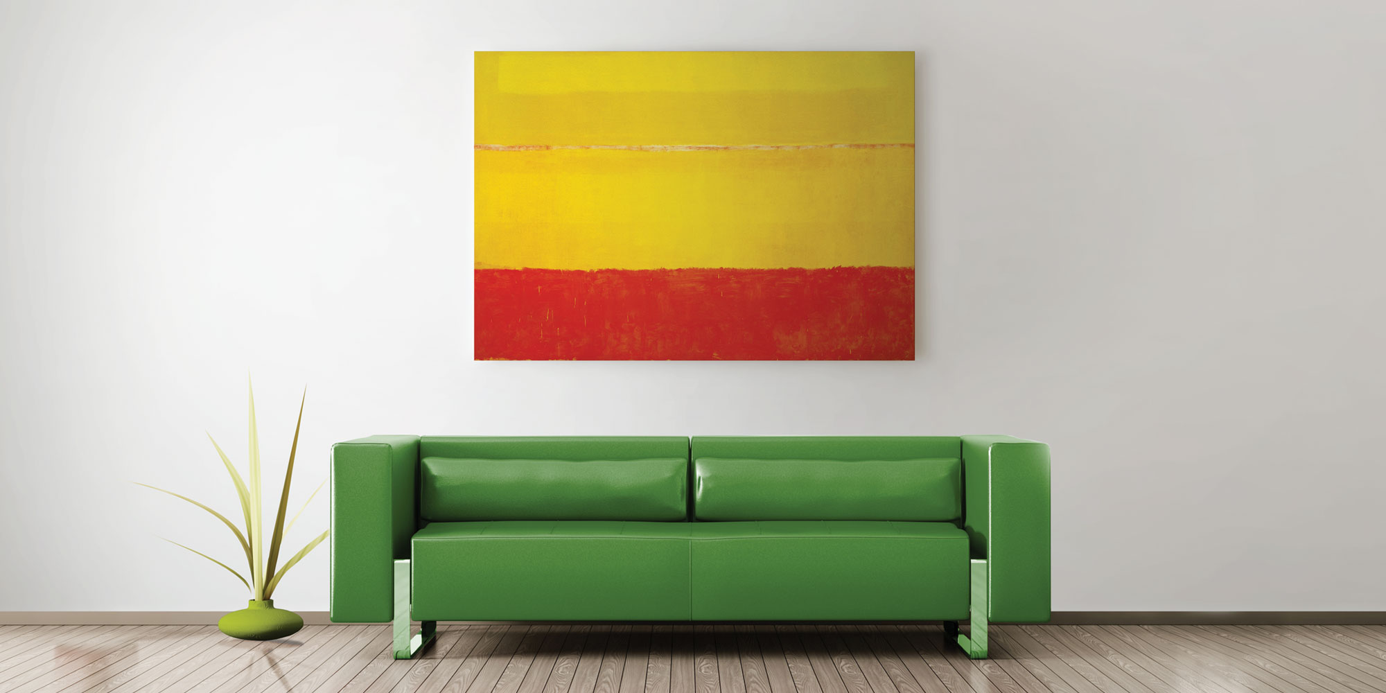 neutral7 design stretched canvas print