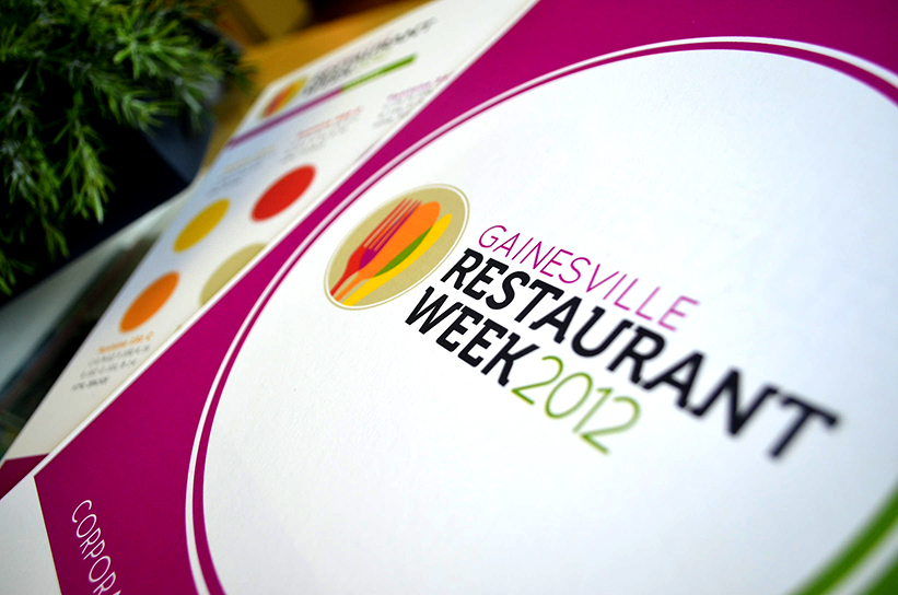 neutral7 graphic design gainesville restaurant week event branding awards