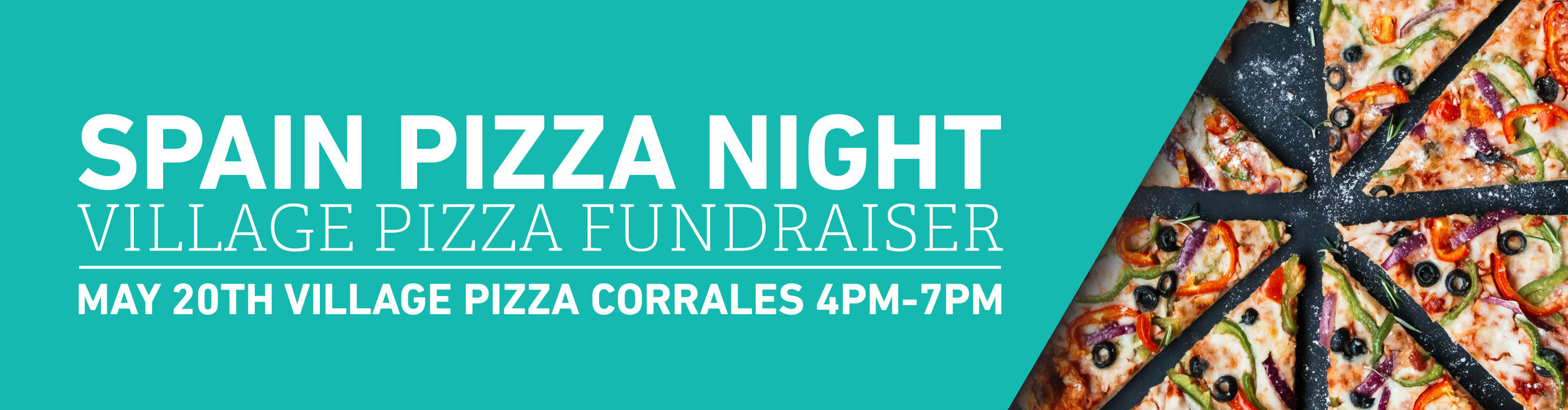Village Pizza is hosting a fundraiser for the Spain Team! $15 per adult for all you can eat pizza buffet Kids are standard pricing Spain gets the excess and a percentage from the night. Plan your family dinner and help the Spain Team get closer to their goals!  May 20, 2018 4pm - 7pm Village Pizza Corrales