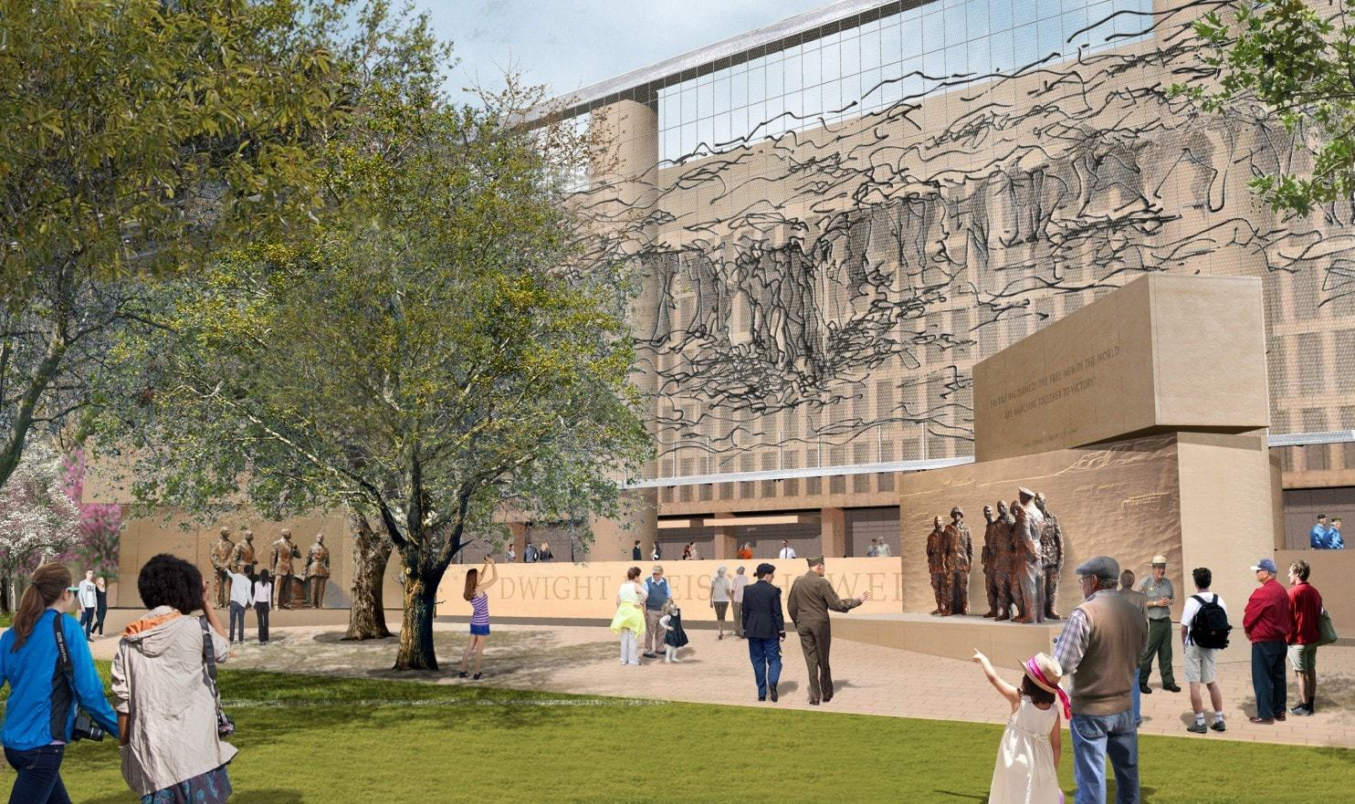 Eleven years after winning the commission to design the Eisenhower Memorial in Washington, D.C. ground was finally broken in 2017 and completion is scheduled in 2021, when Gehry will be 92 years old.