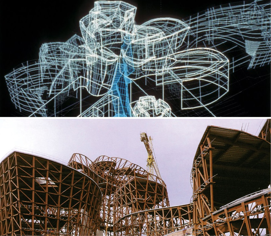 CATIA was actually proved on Guggenheim Bilbao (top), which was designed and built during the timeline of Disney Concert Hall (bottom). The project was brought in on budget and on schedule, despite the unique challenges it presented.
