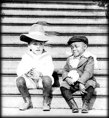 """Quentin Roosevelt and Rosewell Pinckney, members of the """"White House Gang"""" of young playmates.Theodore Roosevelt was an honorary member."""