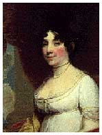 This painting of First Lady Dolly Madison hung on the west wall of the Red Room.