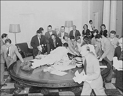 President McKinley's press table.