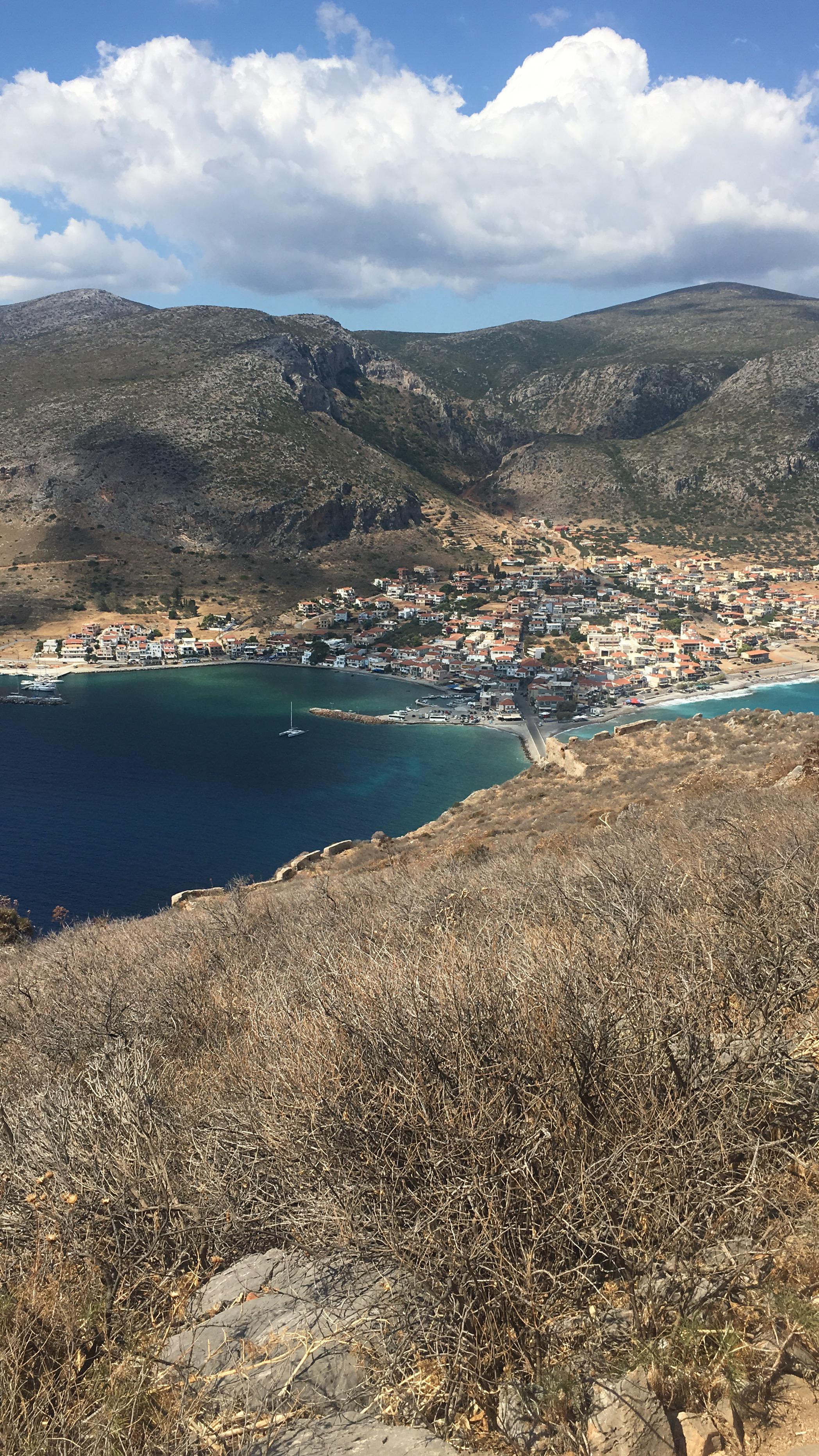 Foto ilhas gregas Monenvasia charter de barco
