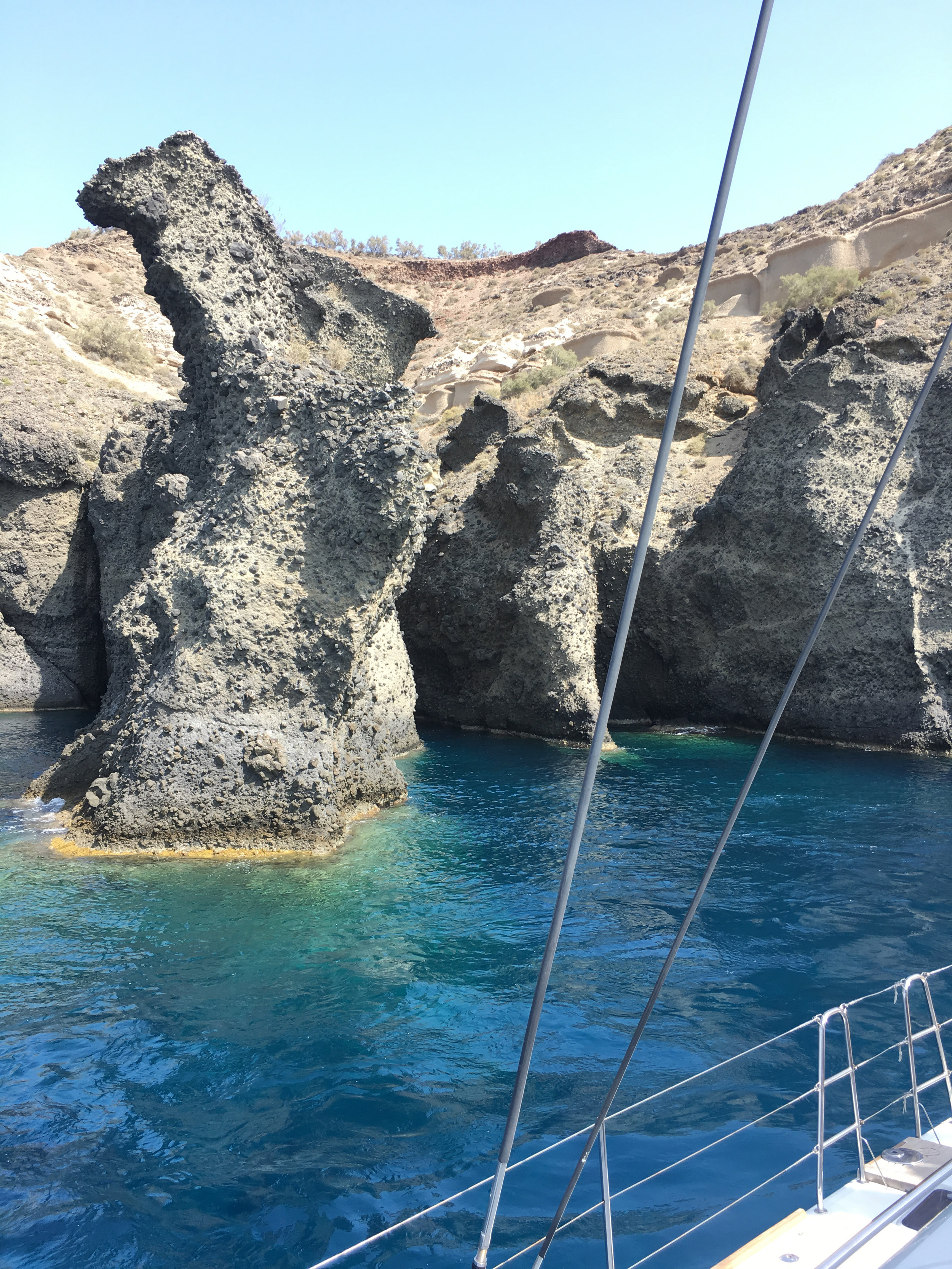 Foto ilhas gregas Santorini charter de barco