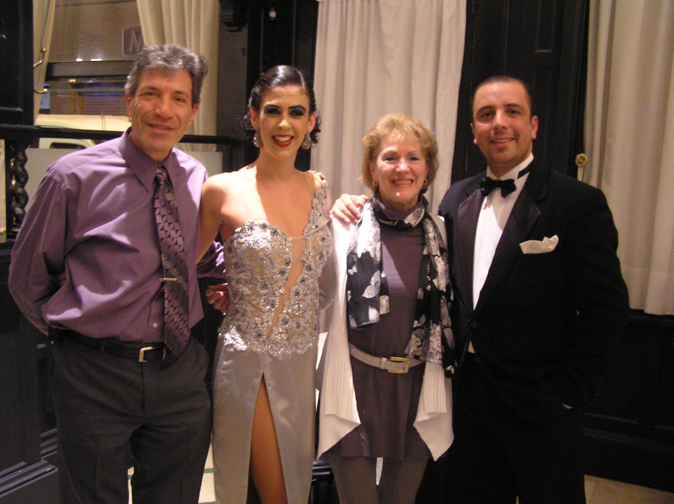 Clients with Cyrena and Dario after the show at El Querandi