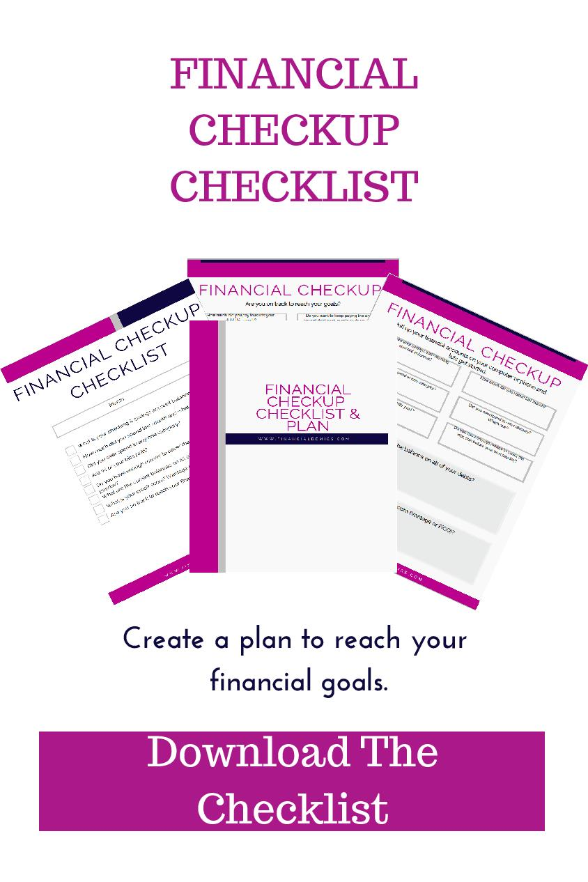 Financial Checkup Checklist