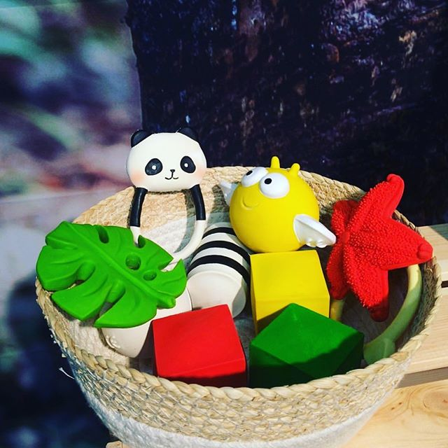 🌿Gaia collection natural rubber baby toys! Make your own Baby gift basket.  Hey folks! Spread the word to your favorite baby boutiques 💜  Our new collection exclusively ✨ @faire_wholesale  #lancotoys #wanatoy #zoeborganic #naturalrubbertoy #firsttoyforbaby #babygift #teether #sustainablebabytoy #handmade #toxicfree #inspiredbynature #babyboutiques