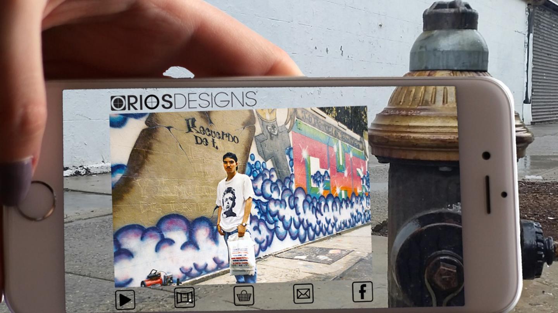 Still of Mi Querido Barrio Augmented Reality tour (credit: Beverly Bryan, Creators)