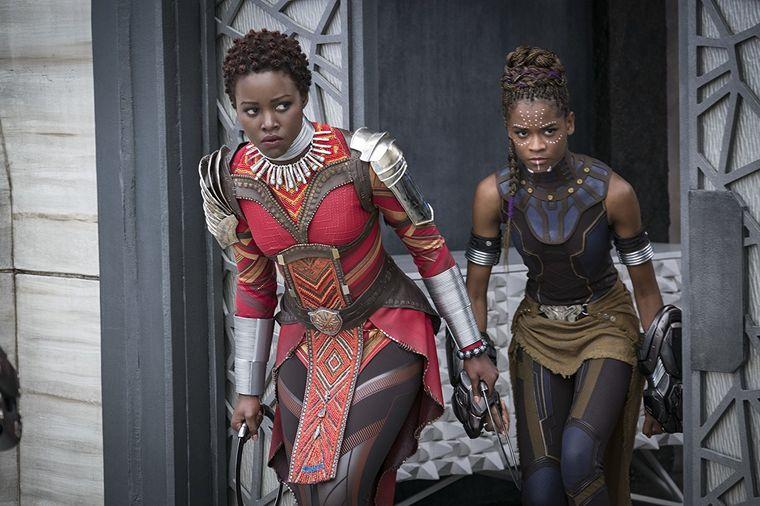Nakia (Lupita Nyong'o), left, and Shuri (Letitia Wright)from  Black Panther