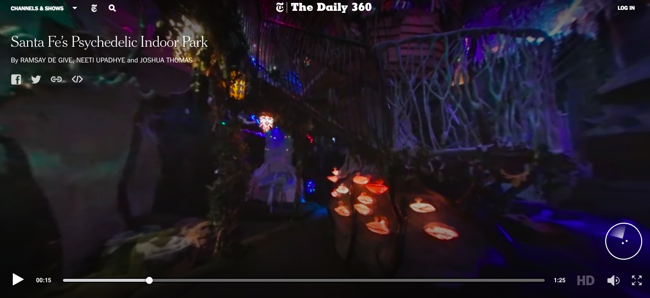 Meow Wolf on NYTimes 360 page