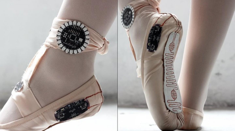 E-traces ballet shoes, Photo: Makezine.com