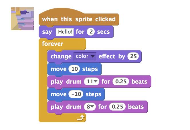 Scratch coding blocks