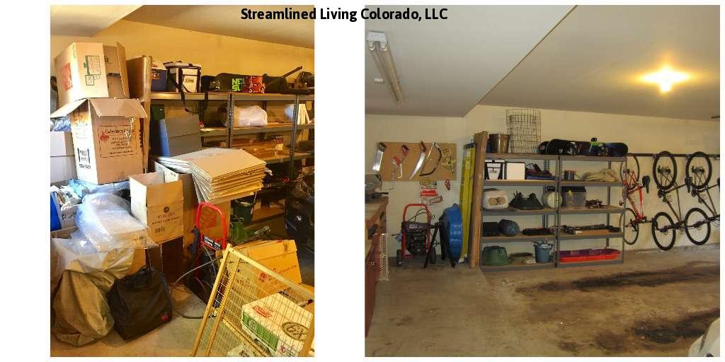 reorganized organized professional organizer purged purge donate donations garage streamlined living colorado