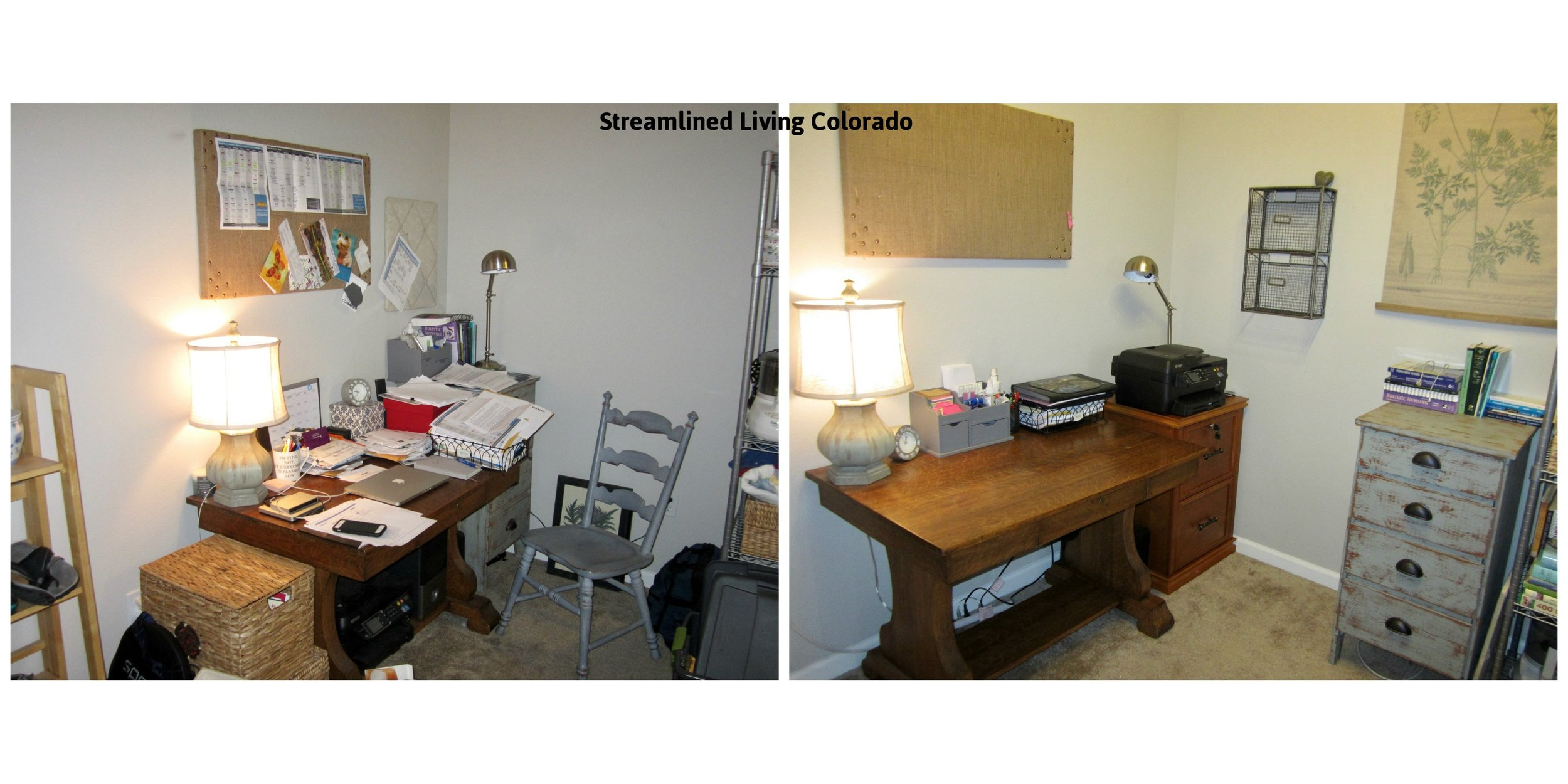 Desk signed small spaces organized professional organizer reorganized home office Streamlined Living Colorado.jpg