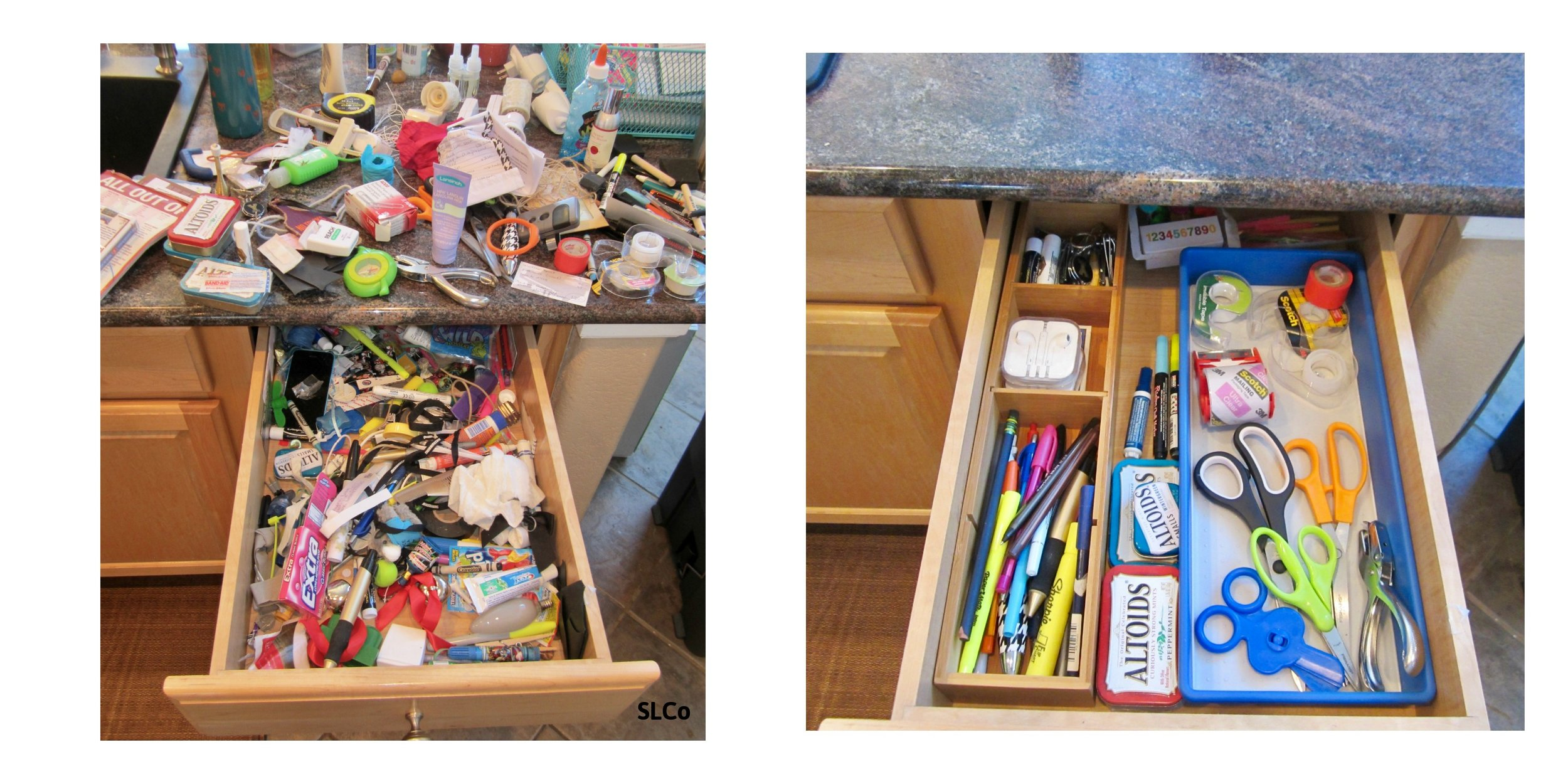 Catch all drawer decluttered small spaces organized professional organizer reorganized signed Streamlined Living Colorado.jpg