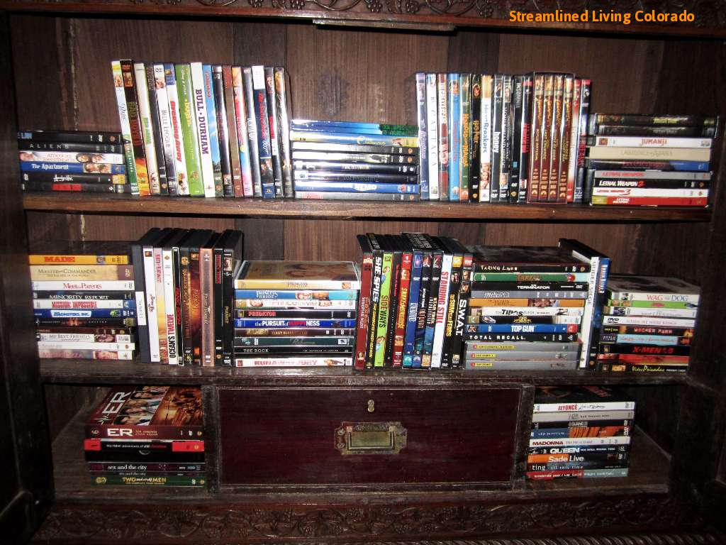 all dvds and blu-rays have been inventoried, categorized and alphabetized!