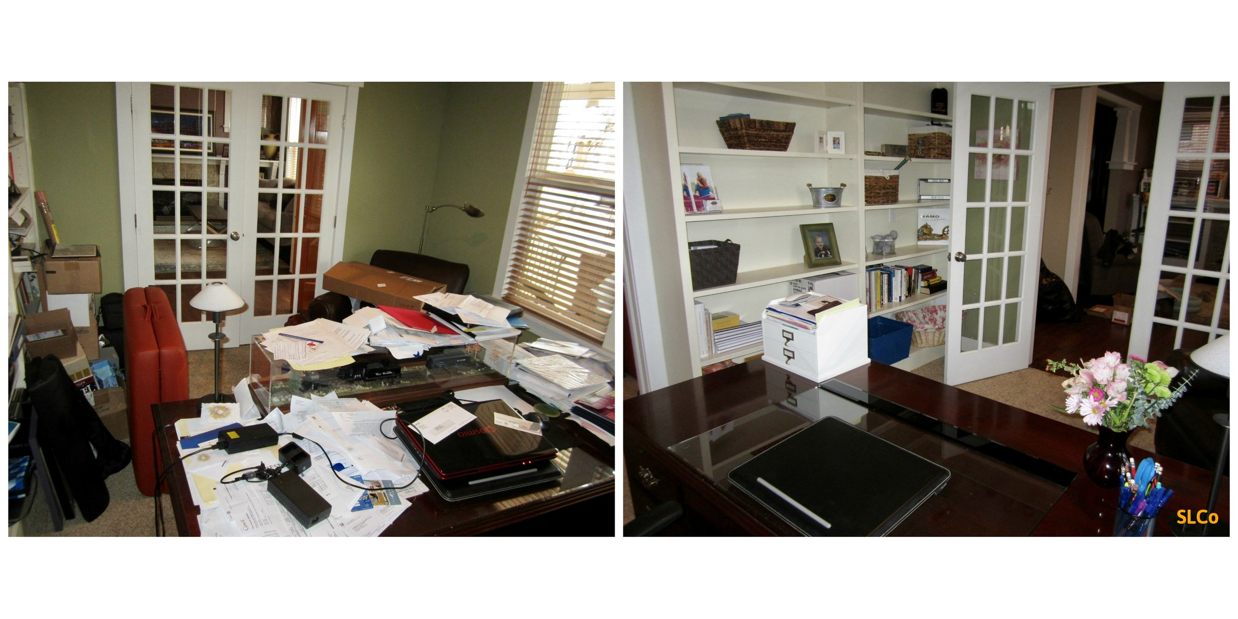 Messy home office Streamlined Living Colorado