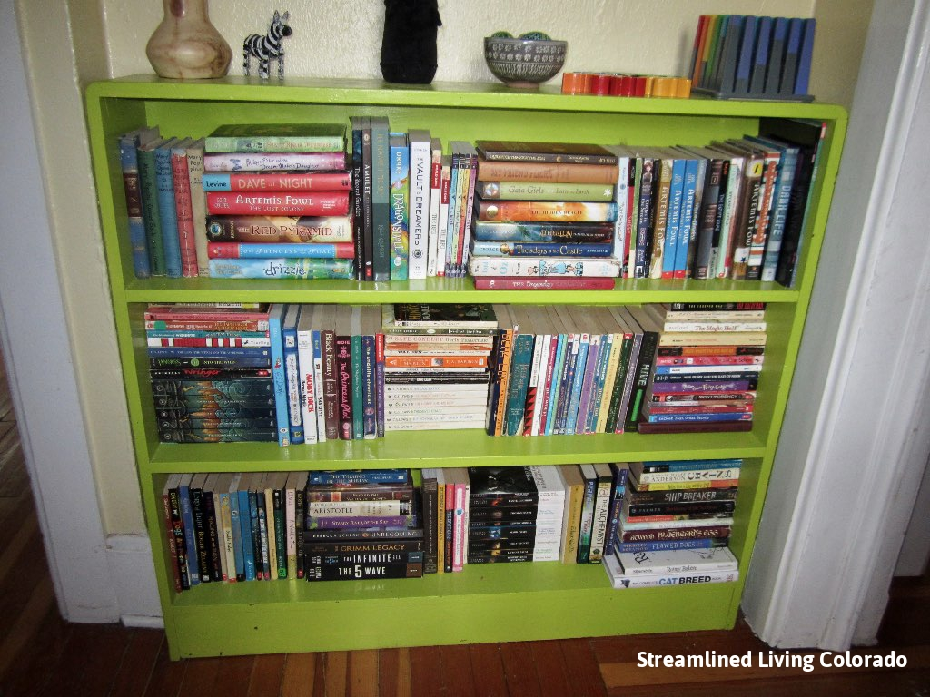 Green Bookshelf signed Streamlined Living Colorado.jpg