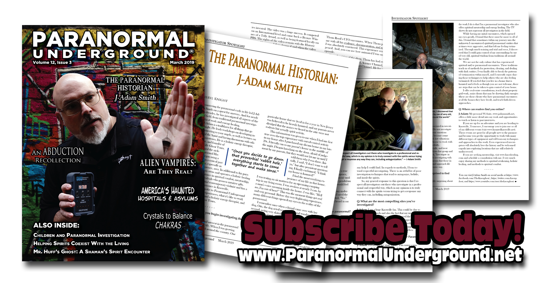 Paranormal Underground Magazine featuring J Adam Smith.png