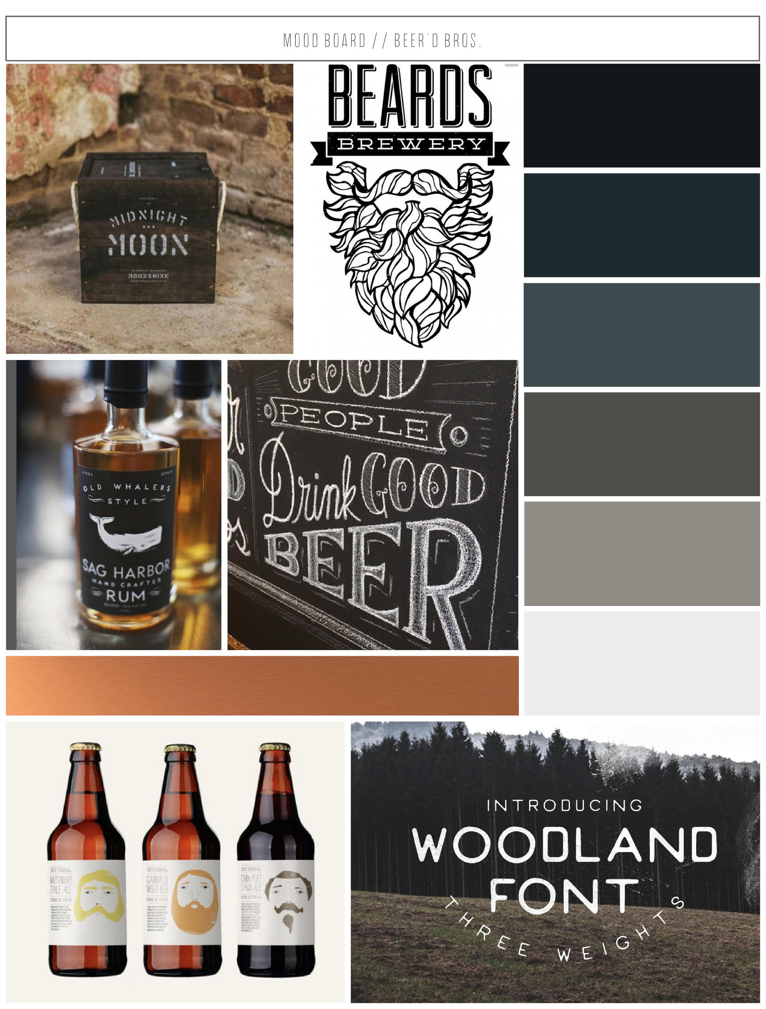 Beer'd Bros. Mood Board