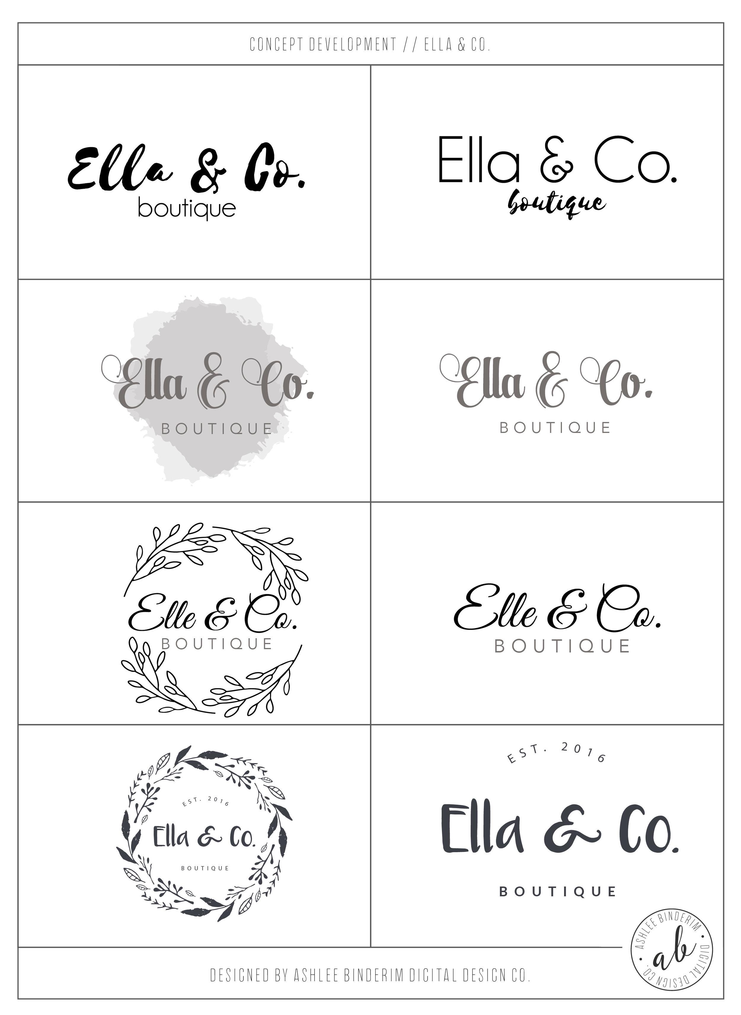 Ella & Co. Concept Development