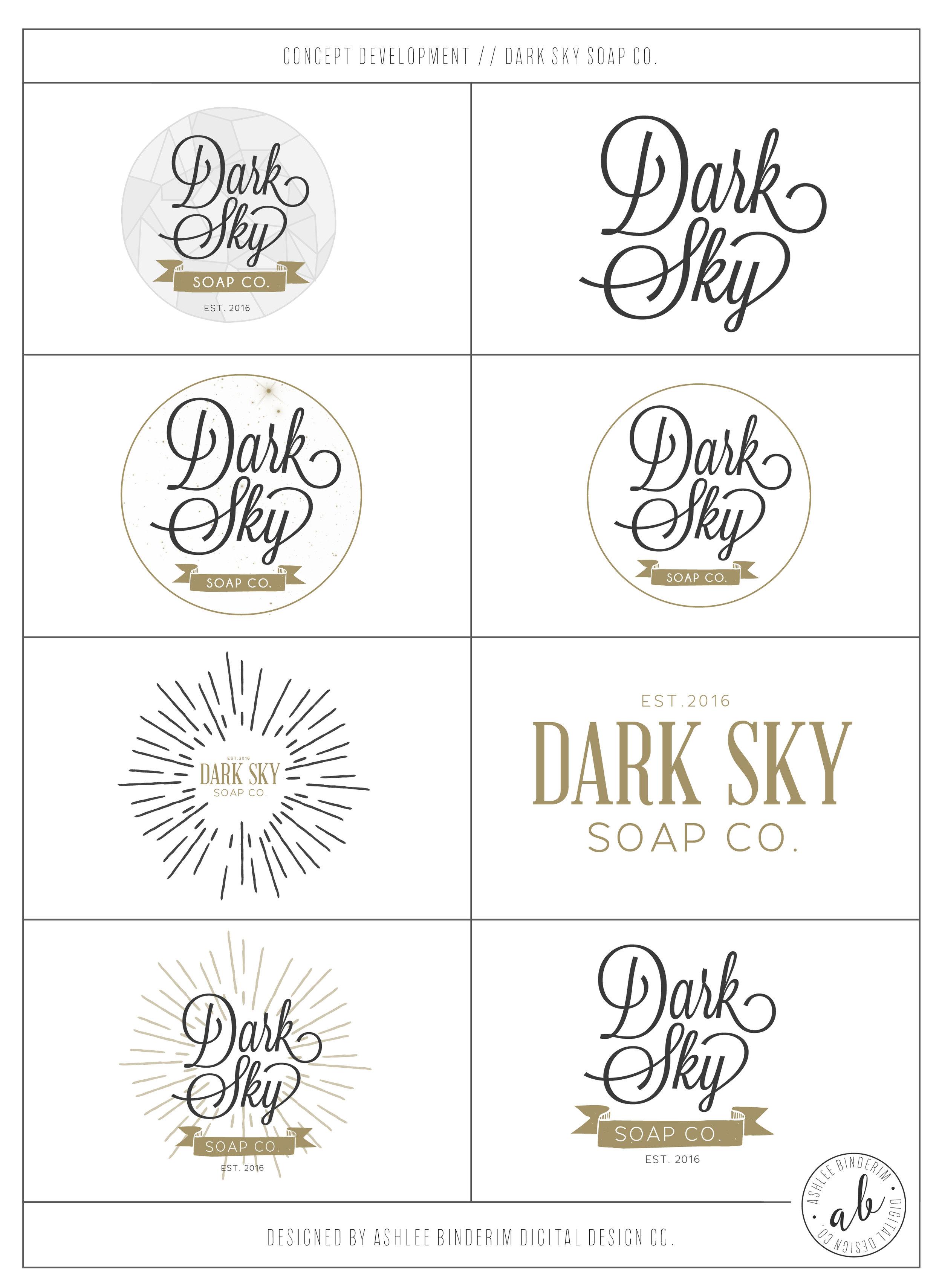 Dark Sky Soap Co. Concept Development