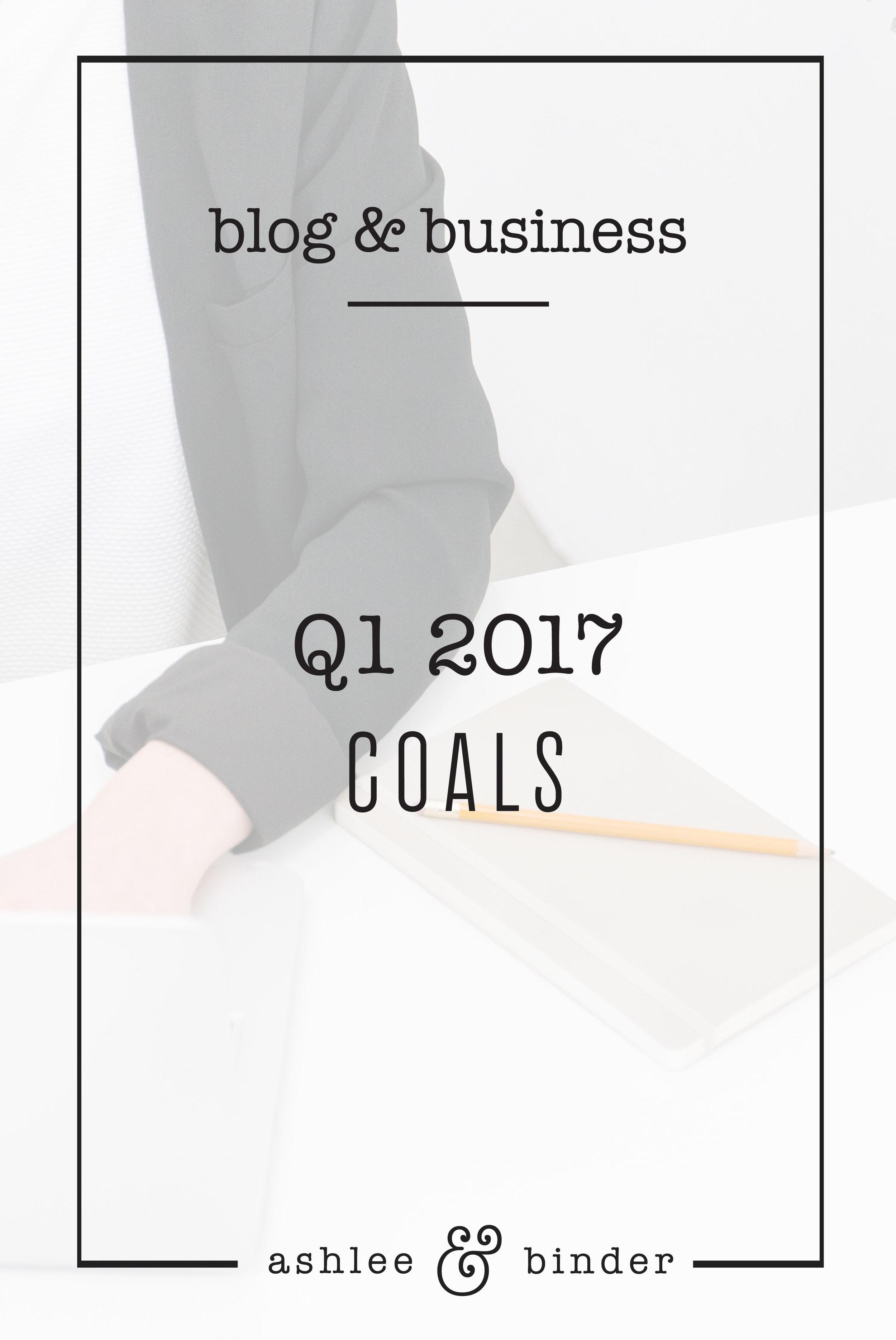 Q1 2017 Goals