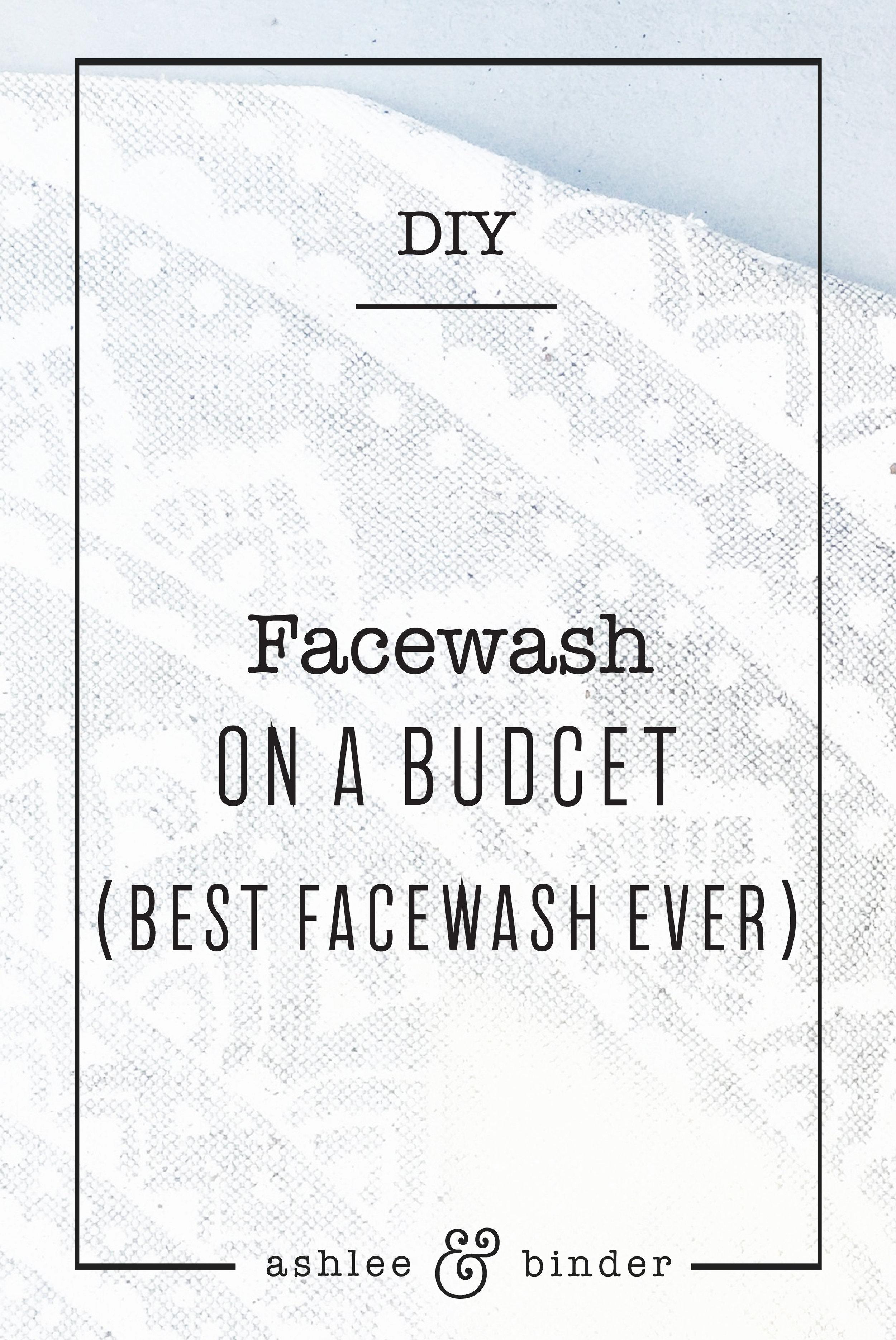 DIY Facewash