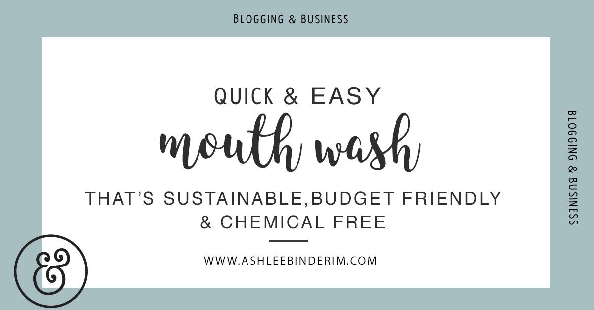 Mouth Wash Recipe