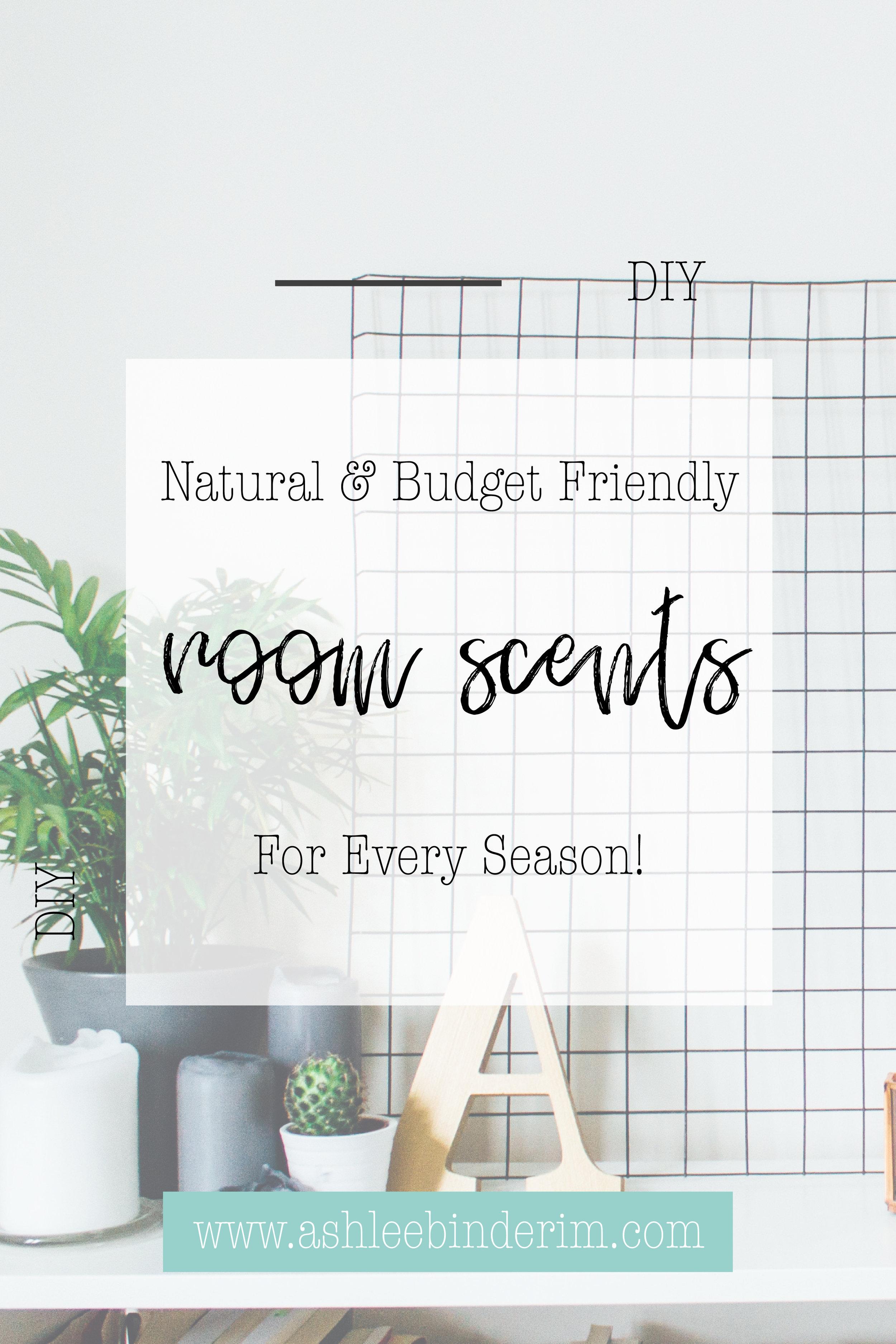 DIY Natural Room Scents