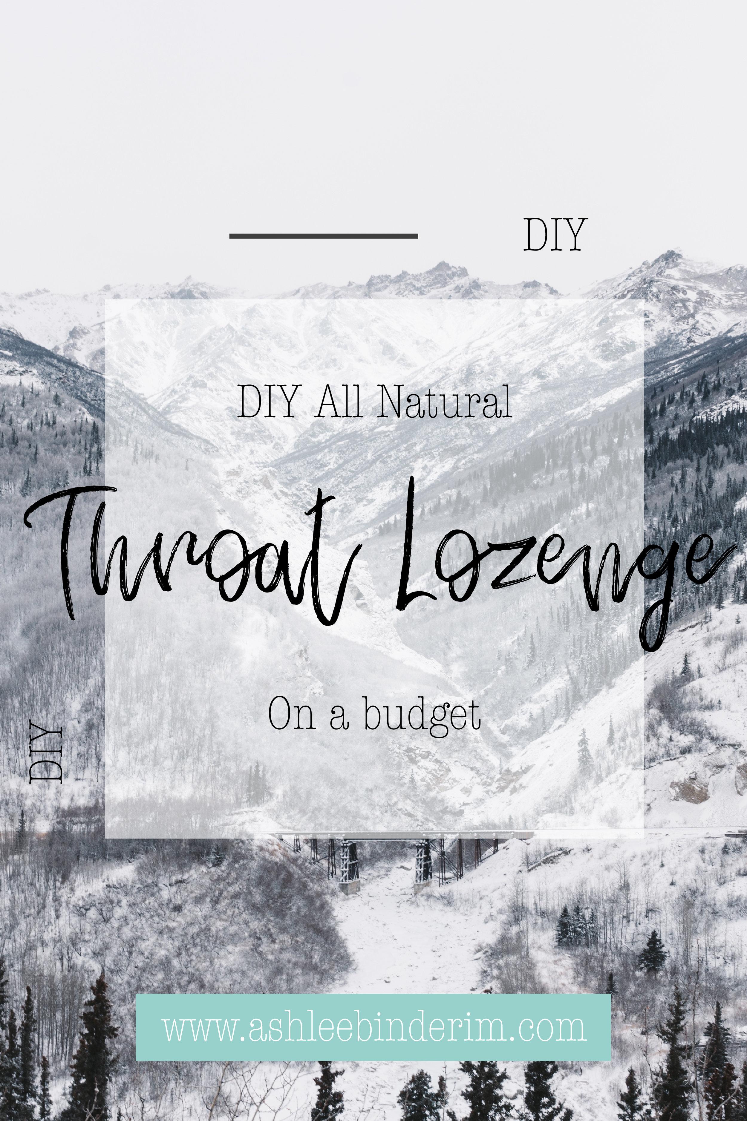 DIY Throat Lozenge