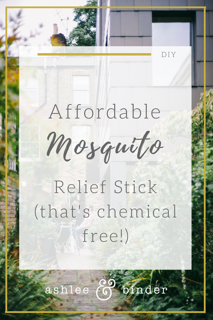 DIY mosquito relief stick