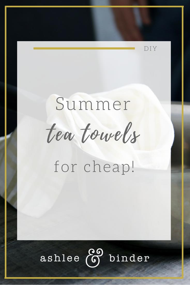 DIY Tea Towels