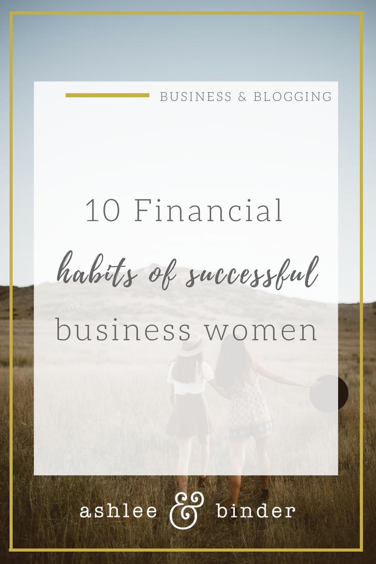 10 financial habits of successful women