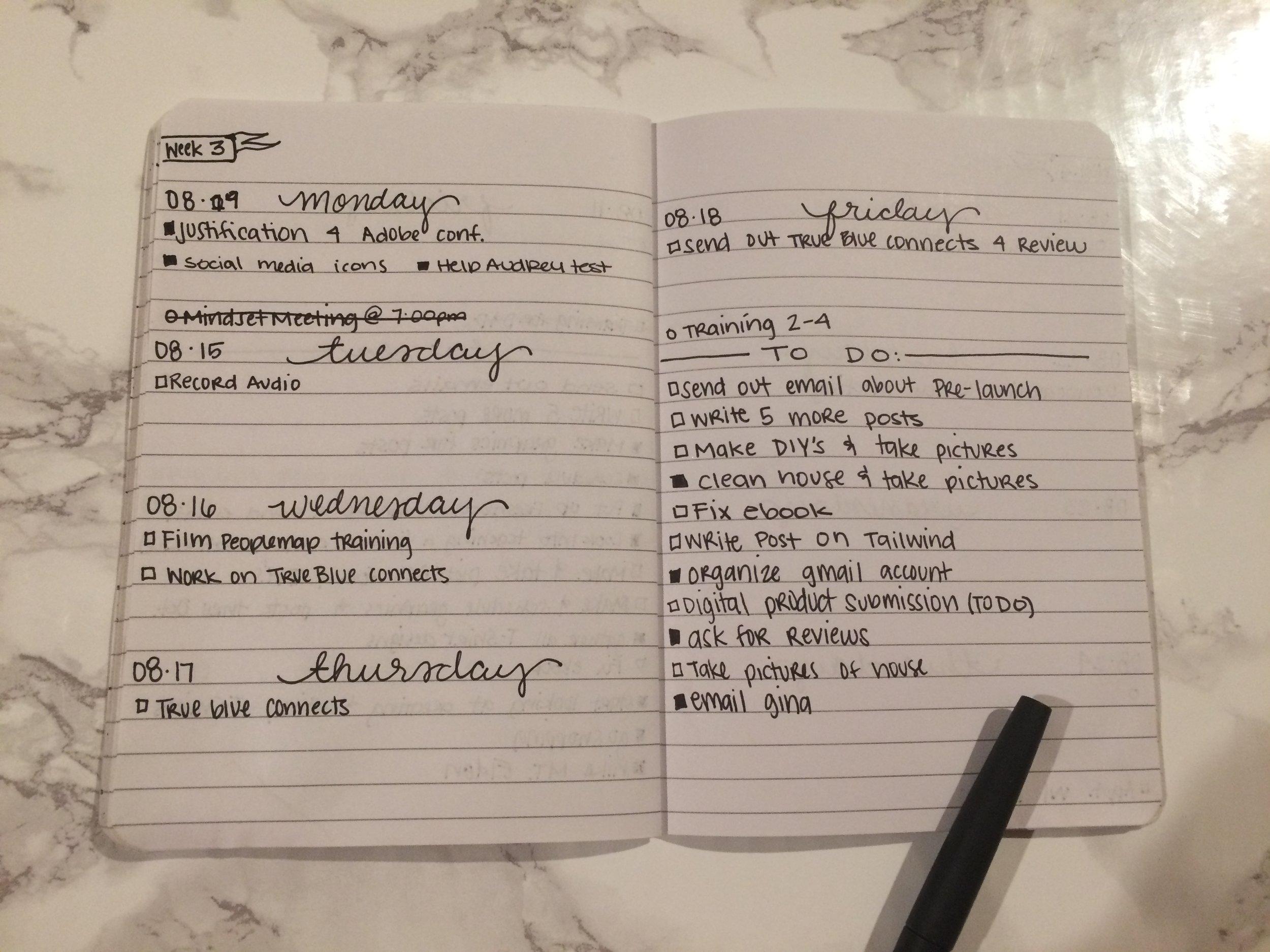 Bullet Journal Examples